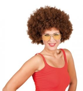 Braune Afro-Perücke