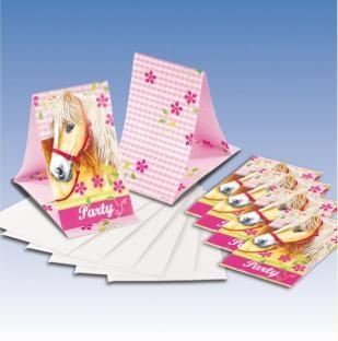 Einladungskarten Pferde-Party, 9er Pack mit Umschlägen
