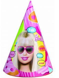 Party-Hütchen Totally Barbie, 6er Pack