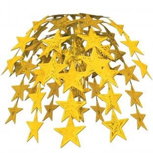 Party-Extra Große Hängekaskade Golden Stars, 60 cm