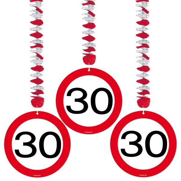Spiralhänger Verkehrsschild, 3er Pack, 76cm