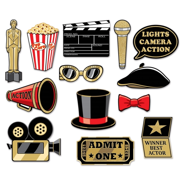 Hollywood Fotospass Set - Filmparty Zubehoer