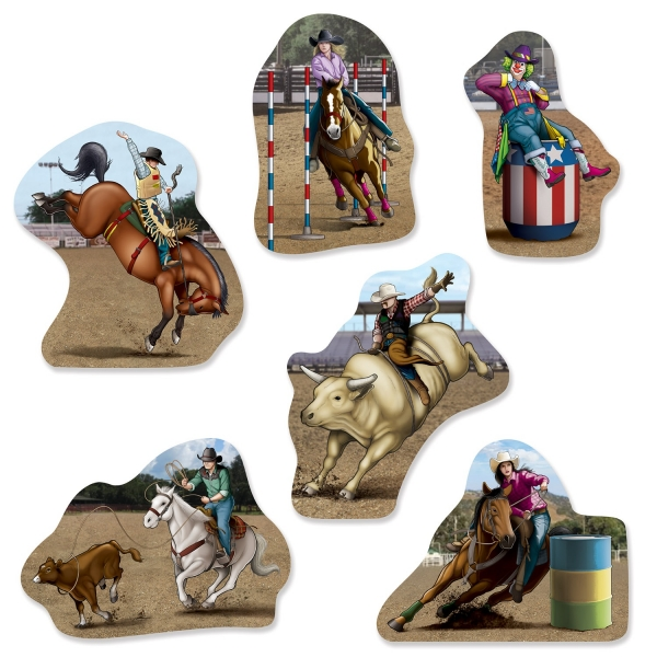 Cutout Set Western Rodeo - Wild West Deko