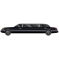 Party-Extra Riesen Wanddeko Stretch-Limousine - Hollywood VIP Deko