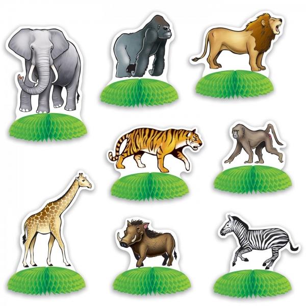 Mini-Tischdeko Set Dschungel Safari - Afrika Deko