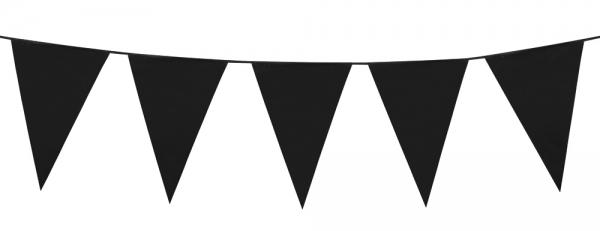 Party-Extra Standard Wimpelkette schwarz, 6 Meter