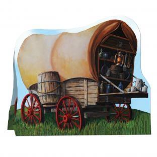 Tischdeko Western-Planwagen - Wild West Deko