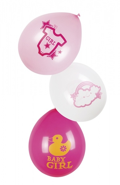 Luftballon-Set Baby Girl - Babyparty Deko