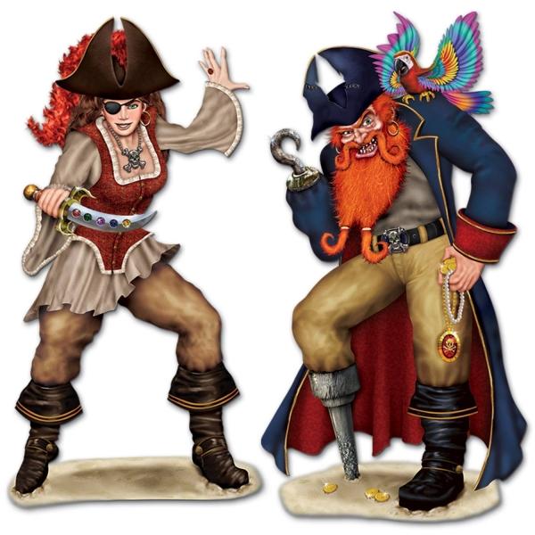 Party-Extra Dekofolien Piratenpaar Bonny + ´Jack