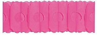 Papier-Girlande pink - Party Deko