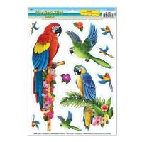 Folien-Aufkleber Papagei, 11-teilig
