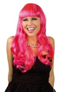 Perücke Chique, kräftiges pink