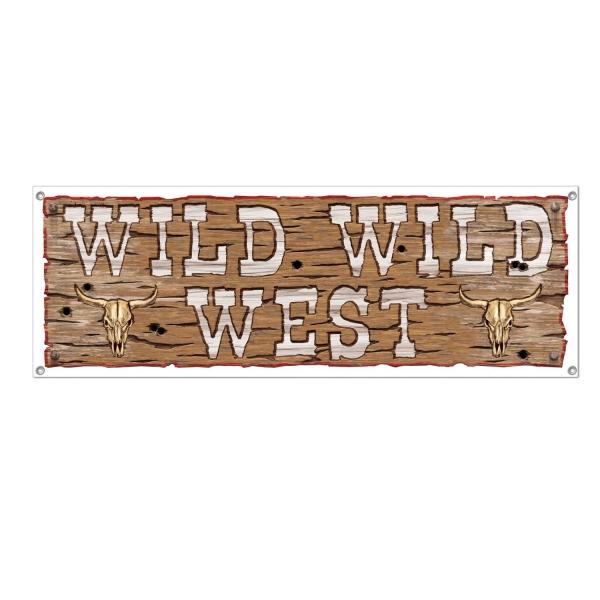 Party-Extra Mega-Partybanner Wilder Westen