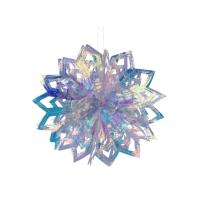 Folien Sternkugel faltbar, irisierend, 20cm