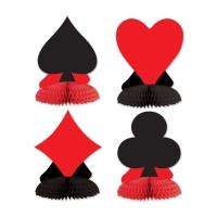 Party-Extra Mini-Tischdekoset Spielkarten
