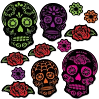 Sugar Skull Cutouts, 12-teilig