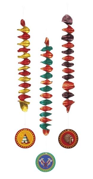 Spiralhänger Indianerparty - Indianer Deko