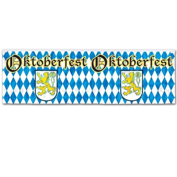 Metallic-Fransenbanner Oktoberfest - Bayernparty Deko