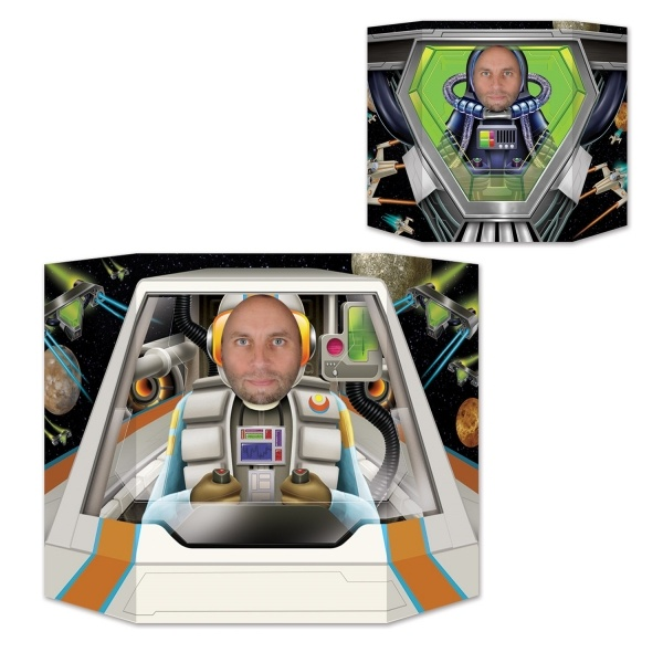 Fotowand-Aufsteller Raumschiff - Weltraum Deko