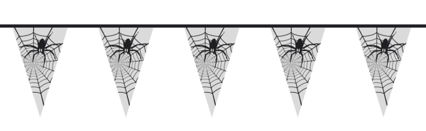 Wimpelkette Spinnennetz, 6 Meter lang