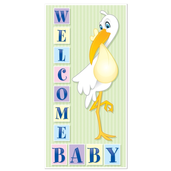 Tür-Dekofolie Welcome Baby, 75 x 150 cm groß