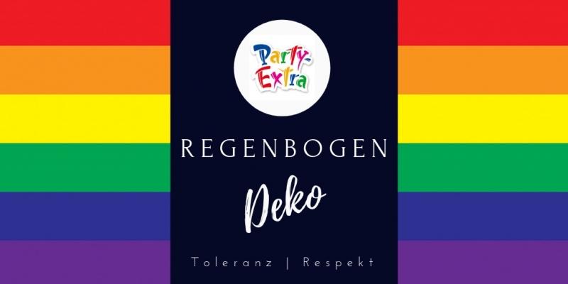 Regenbogen Rainbow Deko fuer Toleranz + Respekt