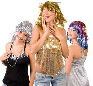 Party-Extra Glitter-Perücke Crazy Disco