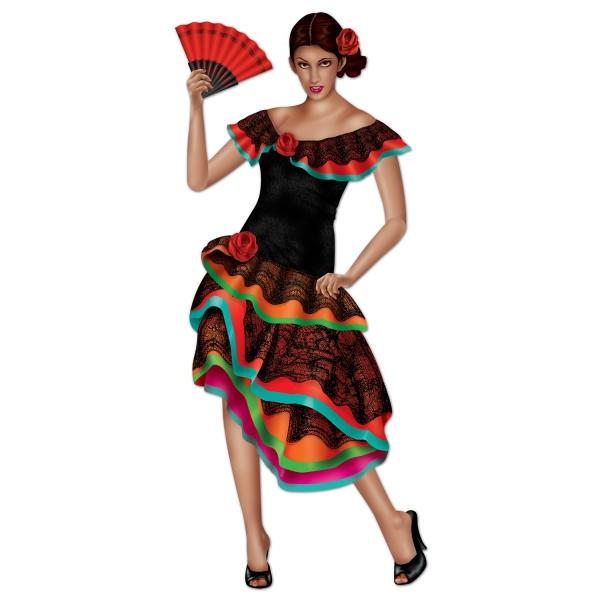 Cutout-Figur Heisse Senorita - Mexikanische Mottoparty Deko
