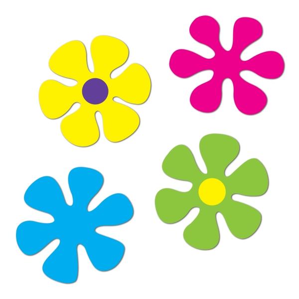 Flower Power Retro Cutouts - Hippie Deko