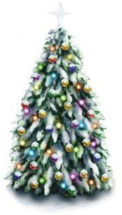 Party-Extra Fenster-Folie Weihnachtsbaum, 45 cm