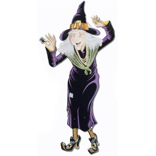 Cutout Figur Hexen Omi - Halloween Deko