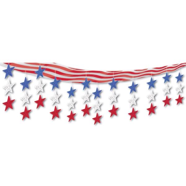 Deckendeko USA - Stars + Stripes Amerika Deko