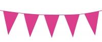 Mini-Wimpelkette Pink, 3 Meter