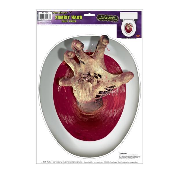 Toilettendeckel-Aufkleber Zombie-Hand
