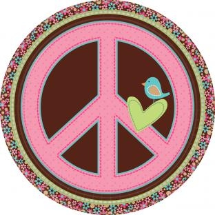 Pappteller Hippie-Party