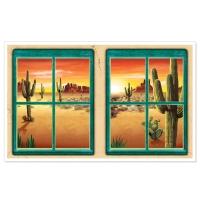 Dekofolie Wüsten-Fenster, 157 cm x 90 cm groß