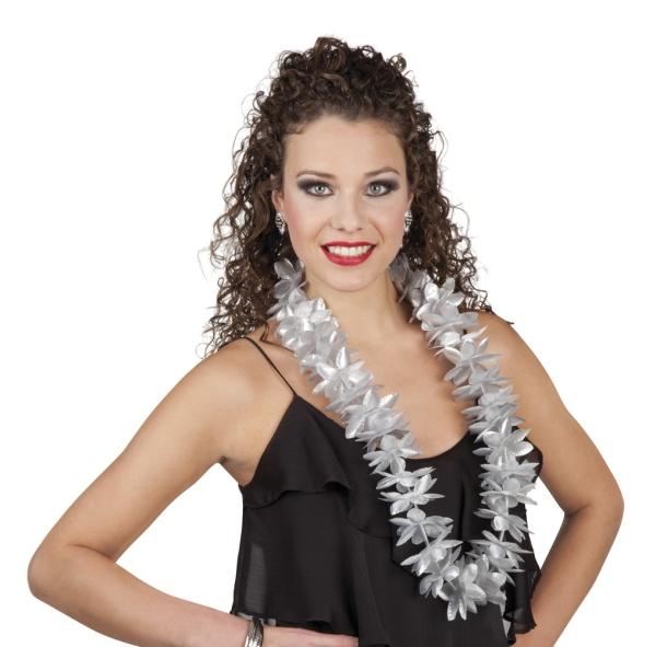 Party-Extra Hawaiikette silber, Nahansicht