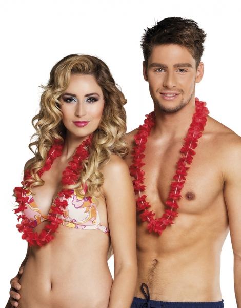 Hawaiikette rot - Beachparty Deko für Sie und Ihn