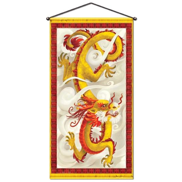 XL-Banner Chinesischer Drache - China Deko