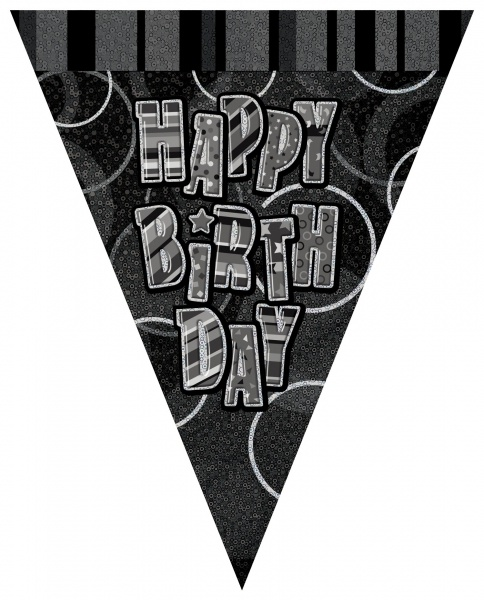 Wimpelkette Glamour Birthday - Geburtstagsdeko
