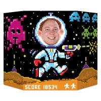 Fotowand-Aufsteller 8-bit Videospiel 80er Jahre, 94 x 64 cm