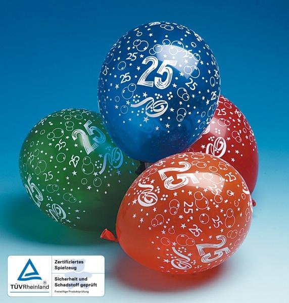 Luftballons Jubilaeum 25 - Geburtstagsdeko