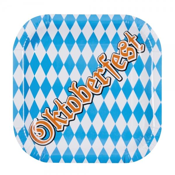 Pappteller Oktoberfest, quadratisch - Bayern Tischdeko