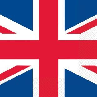 Servietten Großbritannien, 16er Pack