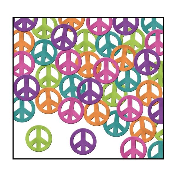 Party-Extra Tischkonfetti Peace - 70er Jahre Friedens-Tischdeko