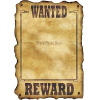 Party-Extra Wanted,Poster für  DIY-Fotomontage