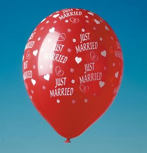 Luftballon-Set Just Married, 5er Pack