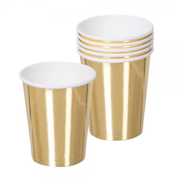 Pappbecher Gold - Glamour Tischdeko