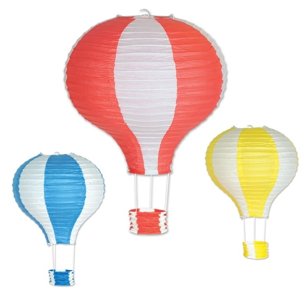 Party-Extra Lampion-Set Heißluftballon, 3-teilig
