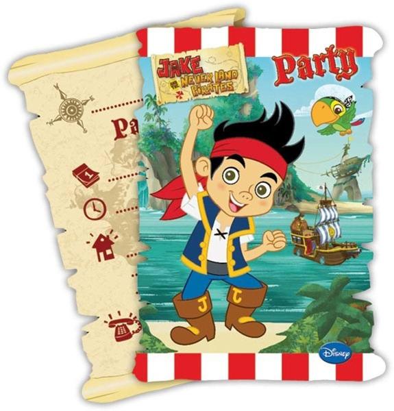 Einladungskarten Jakw + die Nimmerland Piraten